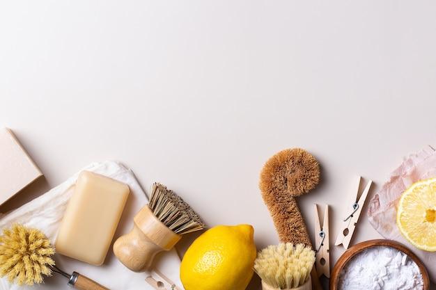 Conjunto de lixo zero de utensílios de limpeza de cozinha gratuitos de plástico