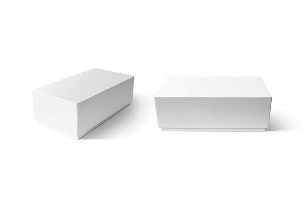 Conjunto de maquete de caixa de smartphone branco liso