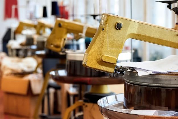 Conjunto de máquinas de costura