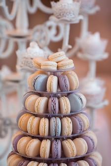 Conjunto de mesa de barra de chocolate de casamento de luxo.