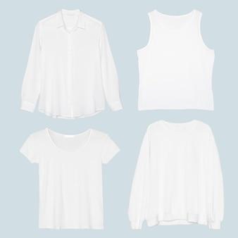 Conjunto de moda minimalista feminina simples