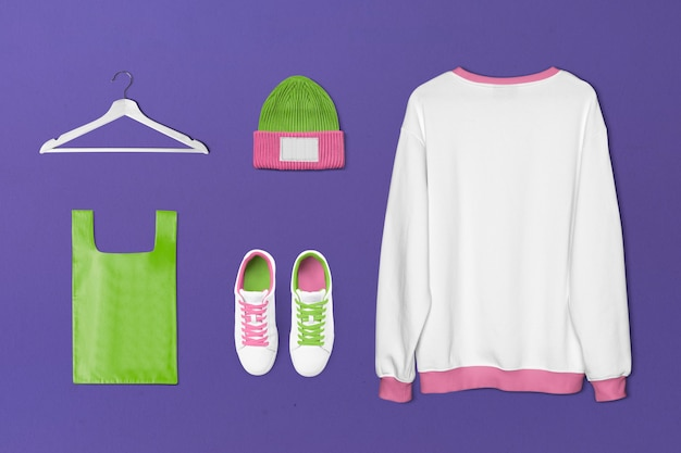 Conjunto de moda streetwear feminina simples