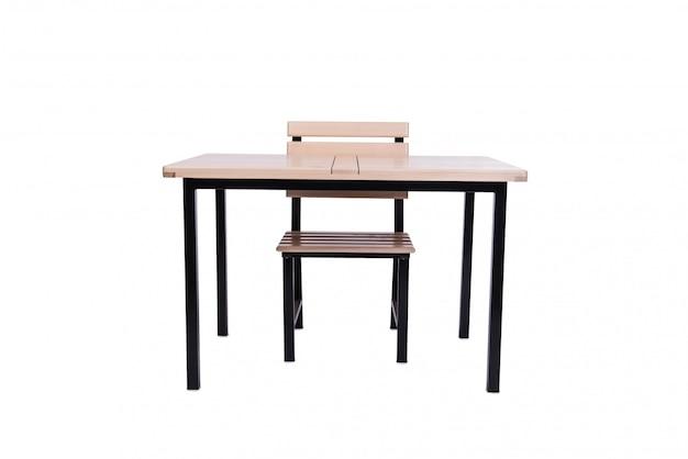 Conjunto de móveis de cozinha isolado no branco