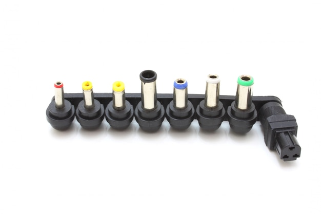 Conjunto de oito vários patchplug isolado no fundo branco