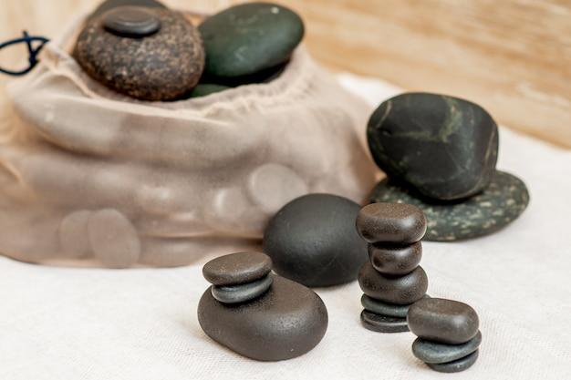 Conjunto de pedras de massagem