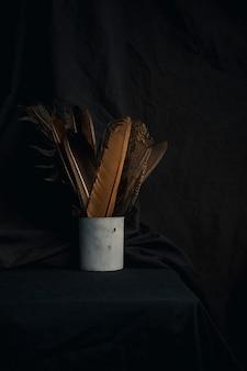 Conjunto de penas em lata