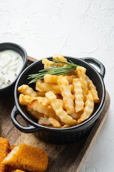 Conjunto de pilha de batatas fritas