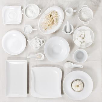 Conjunto de placas brancas