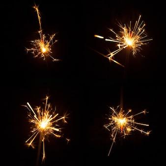 Conjunto de quatro grandes sparklers