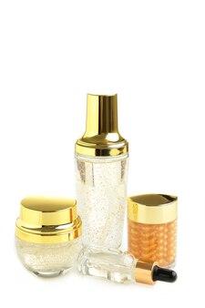 Conjunto de recipientes de ouro para cosméticos