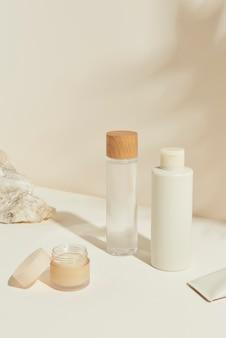 Conjunto de recursos de design de pacote de cuidados com a pele