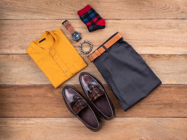 Conjunto de roupas casuais de moda masculina