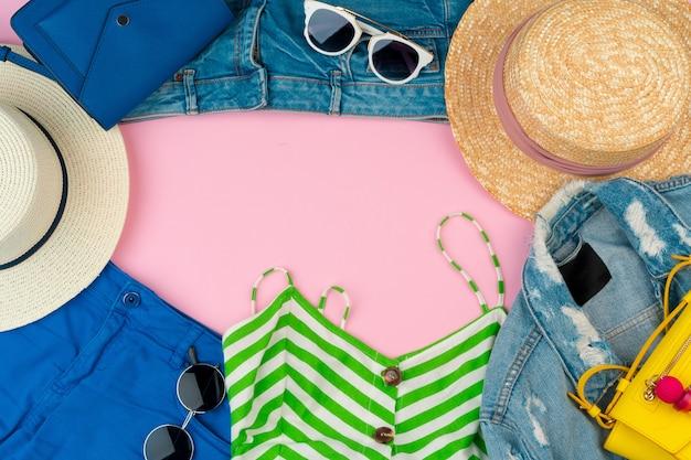 Conjunto de roupas de verão para mulher