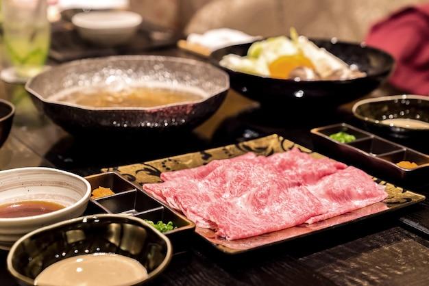 Conjunto de shabu de carne matsusaka