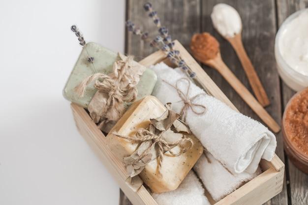 Conjunto de spa de sabão natural