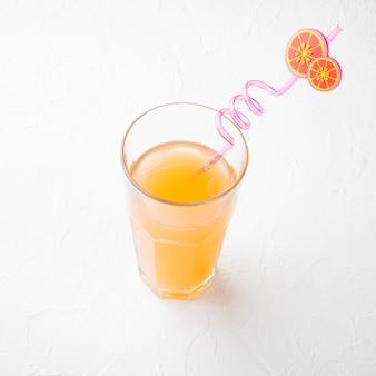 Conjunto de suco de laranja, formato quadrado