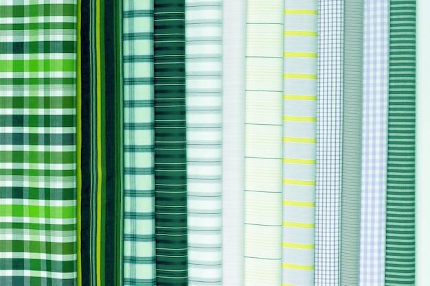 Conjunto de tecido de cor de algodão de textura diferente. abstrato