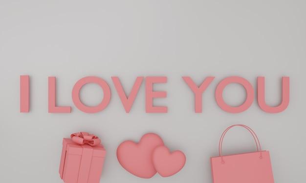 Conjunto de texto rosa simulado