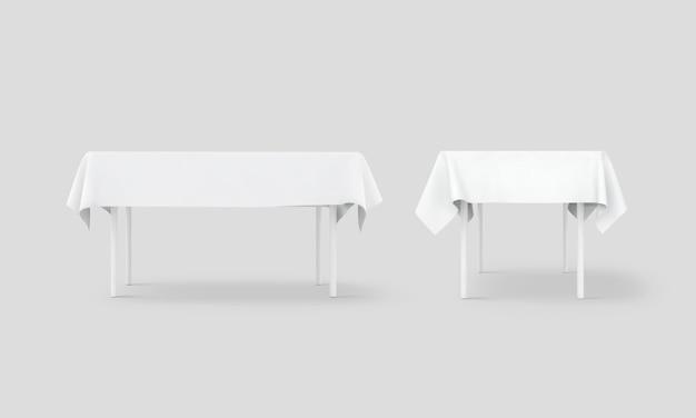 Conjunto de toalhas de mesa branco banco
