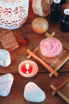 Conjunto de tratamento de spa e aromaterapia