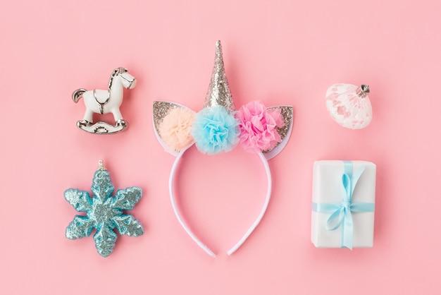 Conjunto de várias decorações de natal isoladas