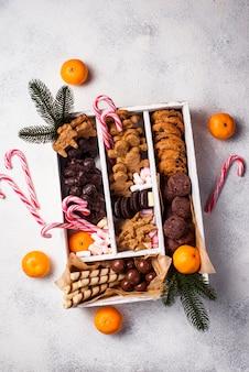 Conjunto de vários biscoitos de natal