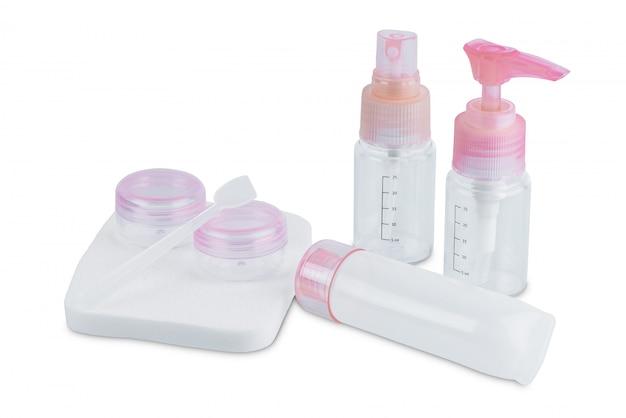 Conjunto de viagem de frascos para cosméticos