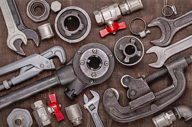 Conjunto doméstico de ferramentas de encanamento para conserto