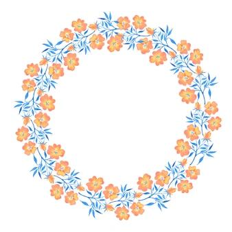 Conjunto floral mão desenhada. grinalda de flores silvestres em aquarela isolada no branco