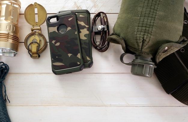 Conjunto militar para acampamento de solider