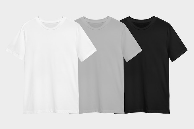 Conjunto mínimo de camisetas para anúncio de vestuário
