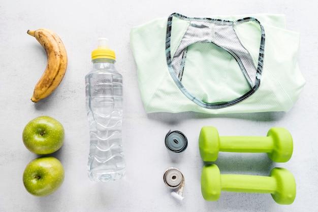 Conjunto ordenado de várias coisas de esportes