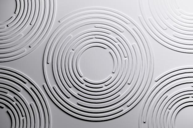 Conjuntos de muitos círculos brancos