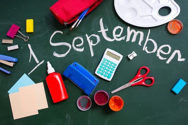 Conselho escolar com a inscrição de setembro