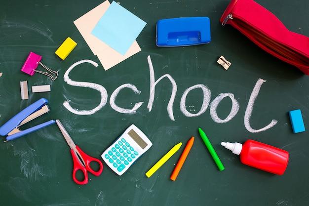 Conselho escolar com a inscrição