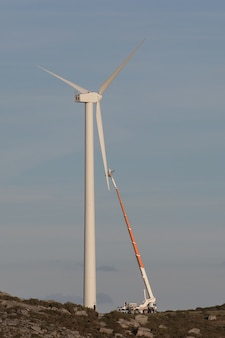 Consertando uma turbina eólica