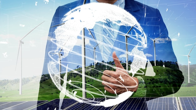 Conservação ambiental conceitual e desenvolvimento esg sustentável