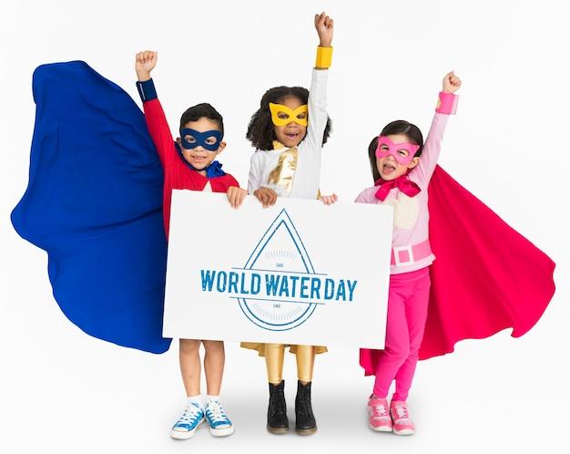 Conservação ambiental da terra no dia mundial da água