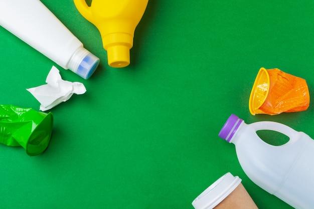 Conservação ambiental, reciclagem de lixo preparada