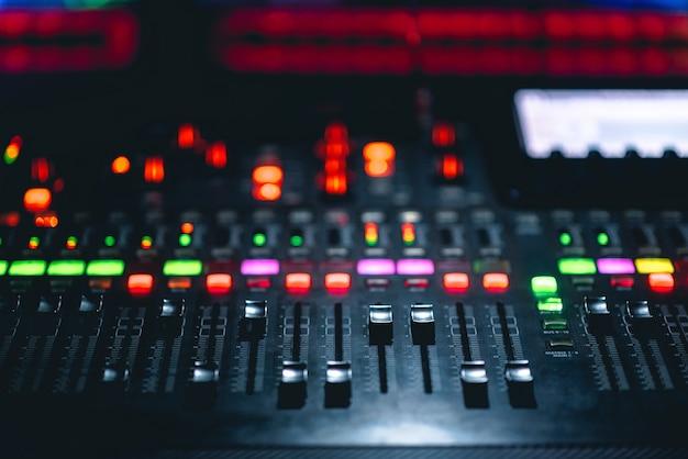 Console de mixagem de música