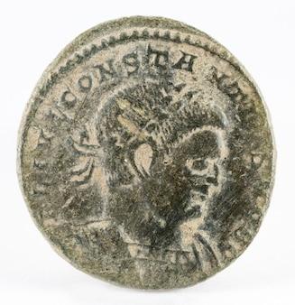Constâncio ii. moeda romana.