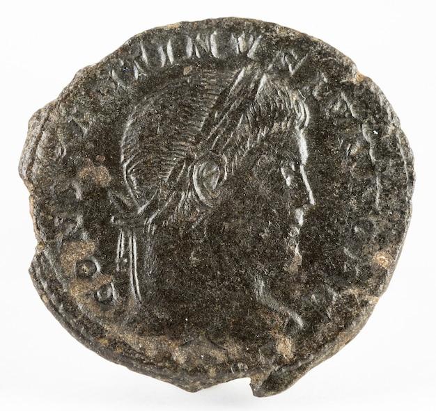 Constantine ii. moeda romana.