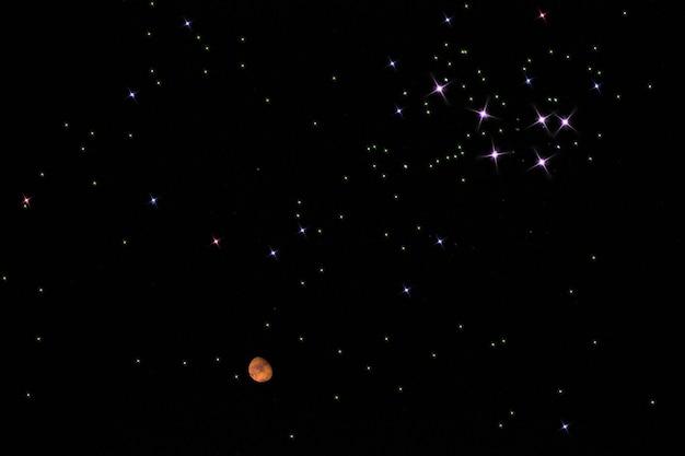 Constelação da galáxia com marte. 03.03.2021