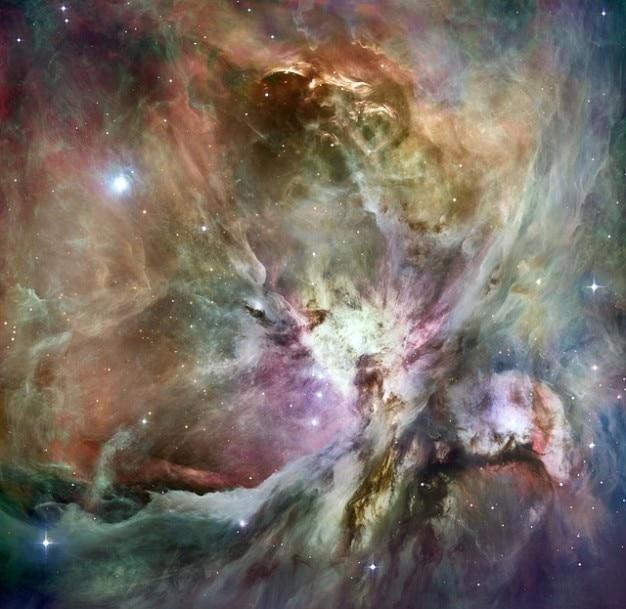 Constelação de orion emissão nebulosa