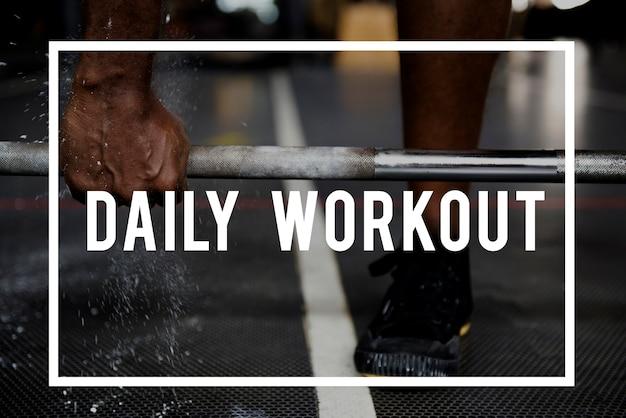 Construa um conceito de treino diário corporal