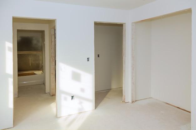 Construção, construção, indústria, novo, lar construção construção, construção, gesso, paredes de gesso