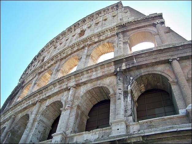 Construção de arena de história romana colloseum itália roma