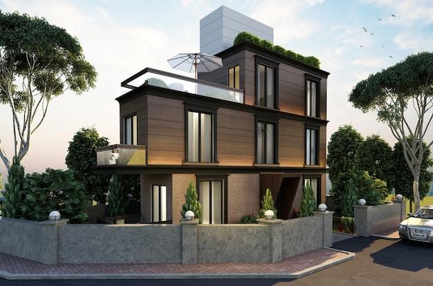 Construção de casas na cidade