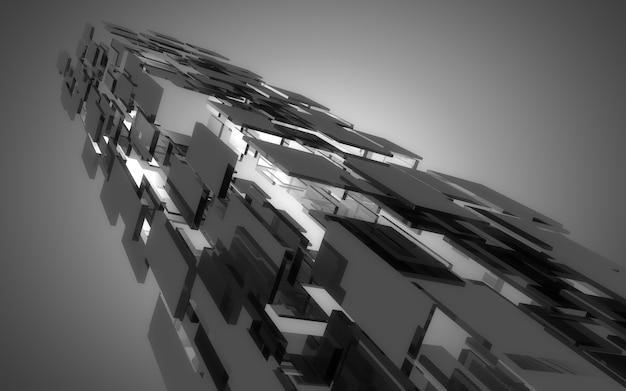 Construção de nave espacial absdtract. fundo abstrato. ilustração 3d