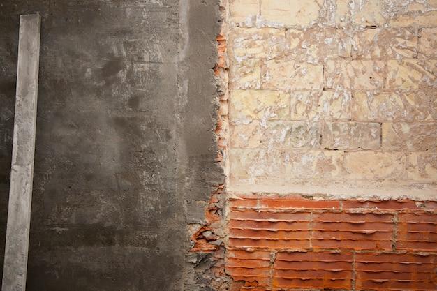 Construção de tijolos e gesso de cimento de argamassa
